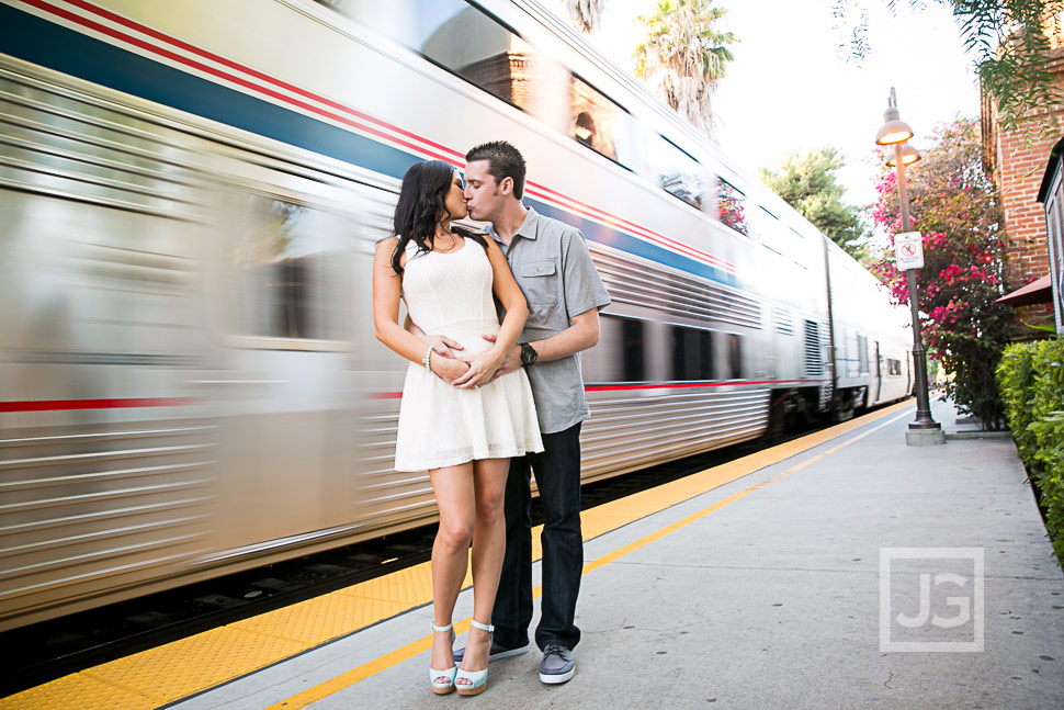 San Juan Capistrano Engagement Photography Metrolink