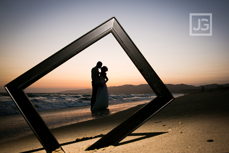 Santa Monica Beach Wedding Photo
