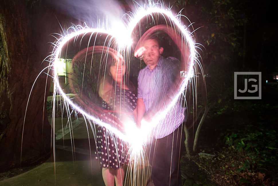 Sparklers Engagement Photos