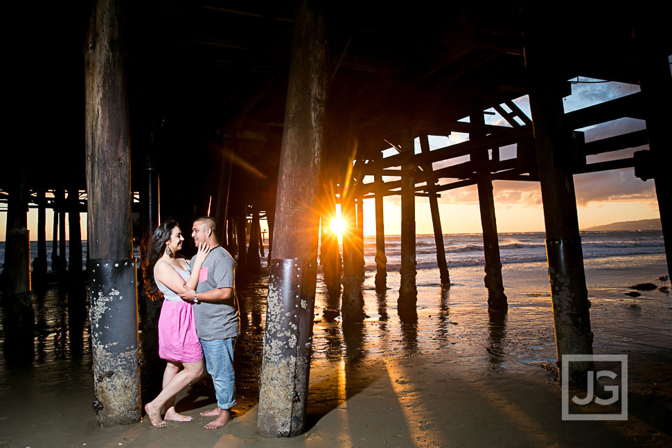 Santa Monica Engagement Photography
