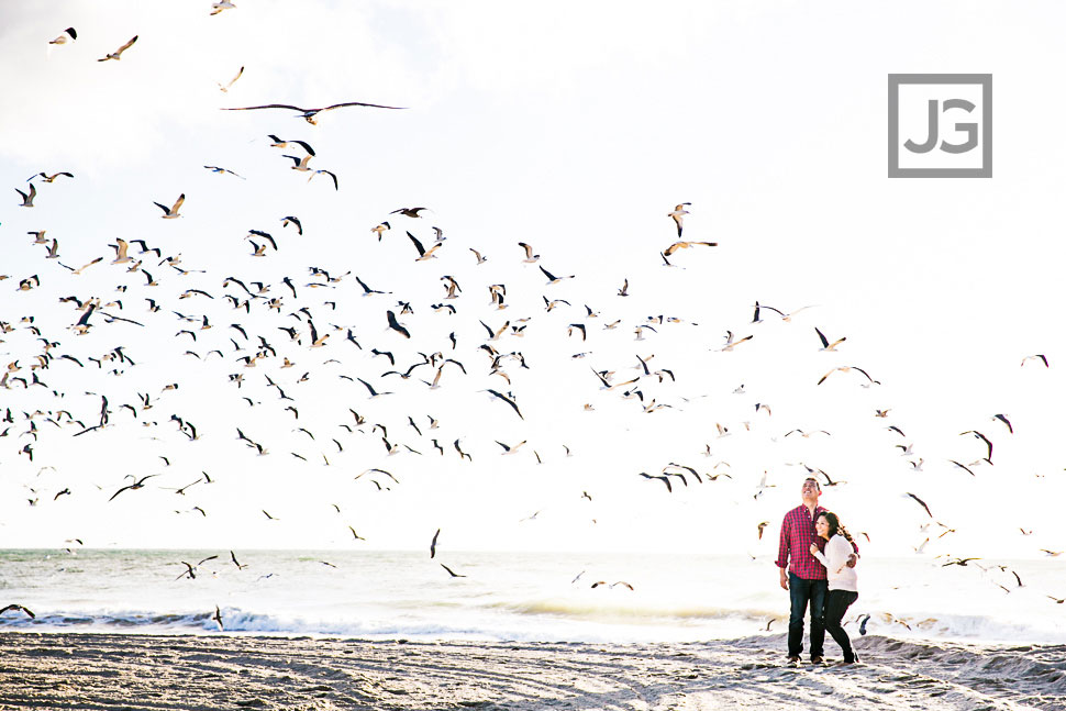 Engagement Photography with Seagulls