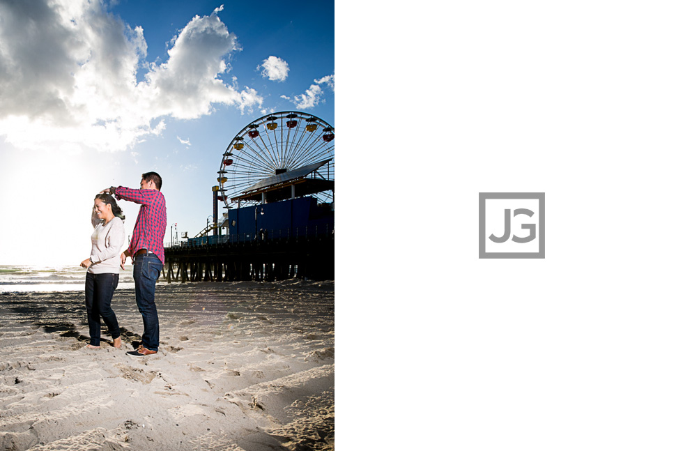 Santa Monica Beach Engagement Photography