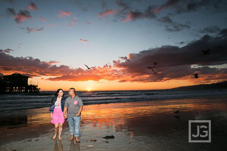 Santa Monica Engagement Photos, LACMA | Cynthia & Milton