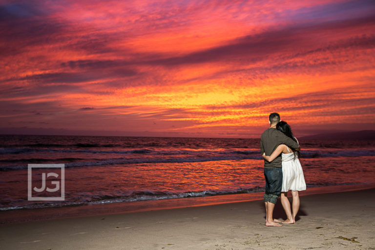 Santa Monica Pier Engagement Photography Sunset | Lucy & Alan