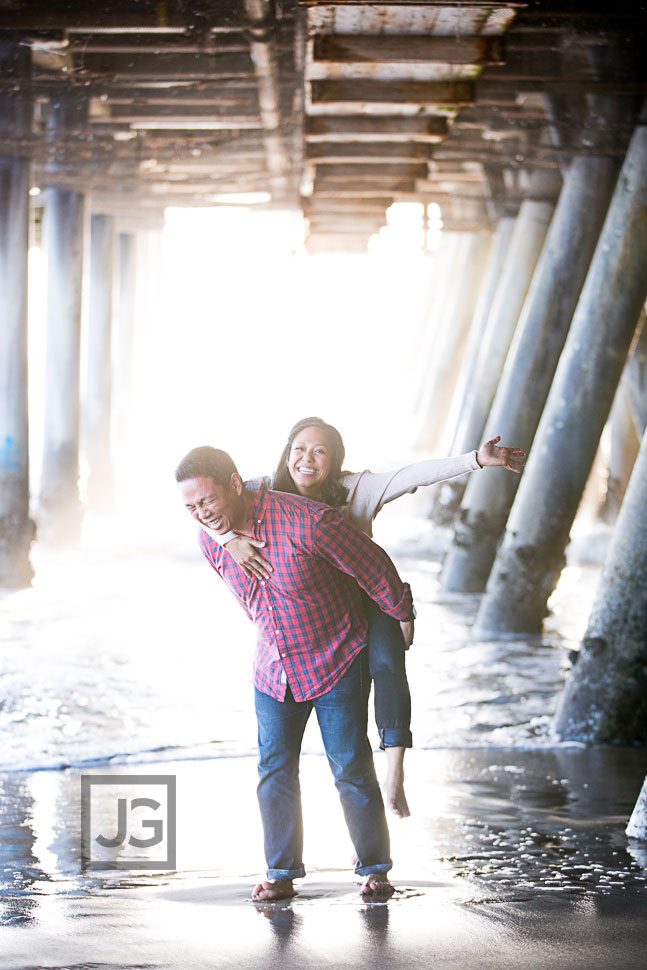 Santa Monica Pier Engagement Photography