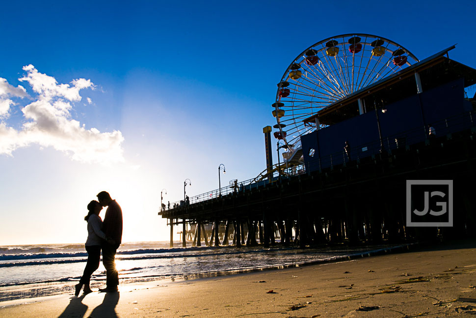Santa Monica Pier Engagement Photos