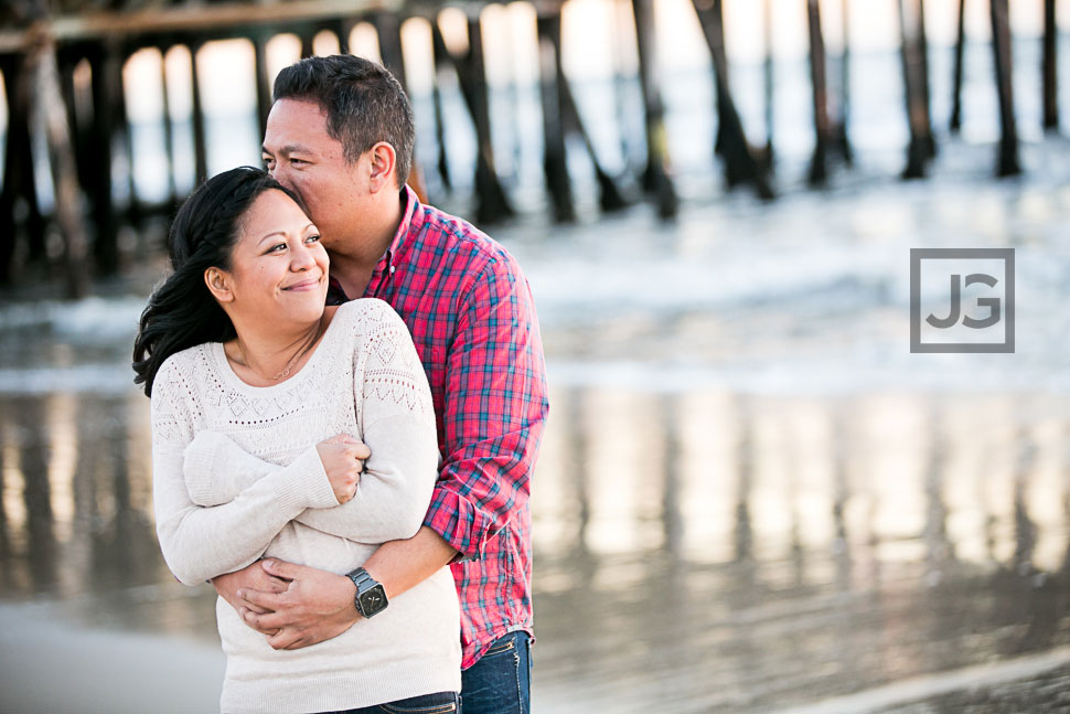 Santa Monica Beach Engagement Photography Sunset