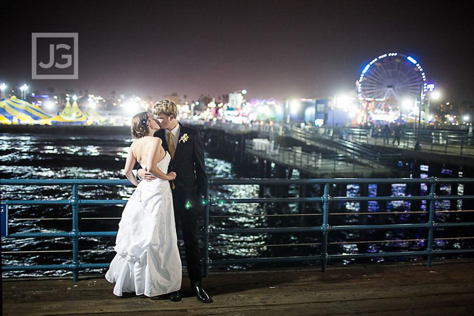 Santa Monica Pier Wedding Photos