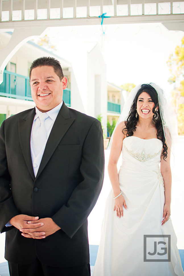 Holiday Inn, Long Beach Airport Wedding First Look