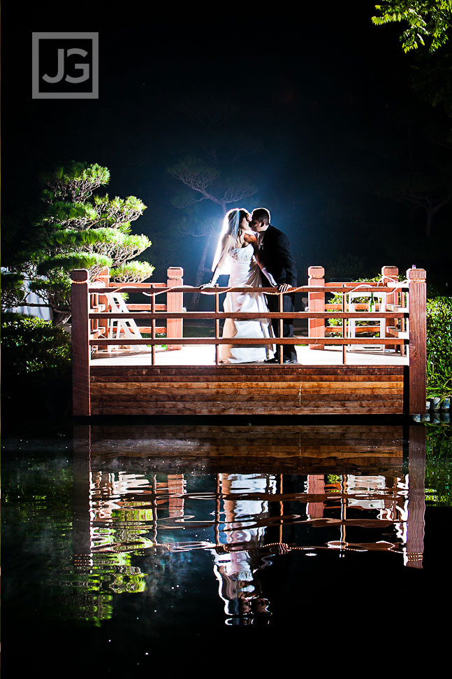 Night Wedding Photos Japanese Garden
