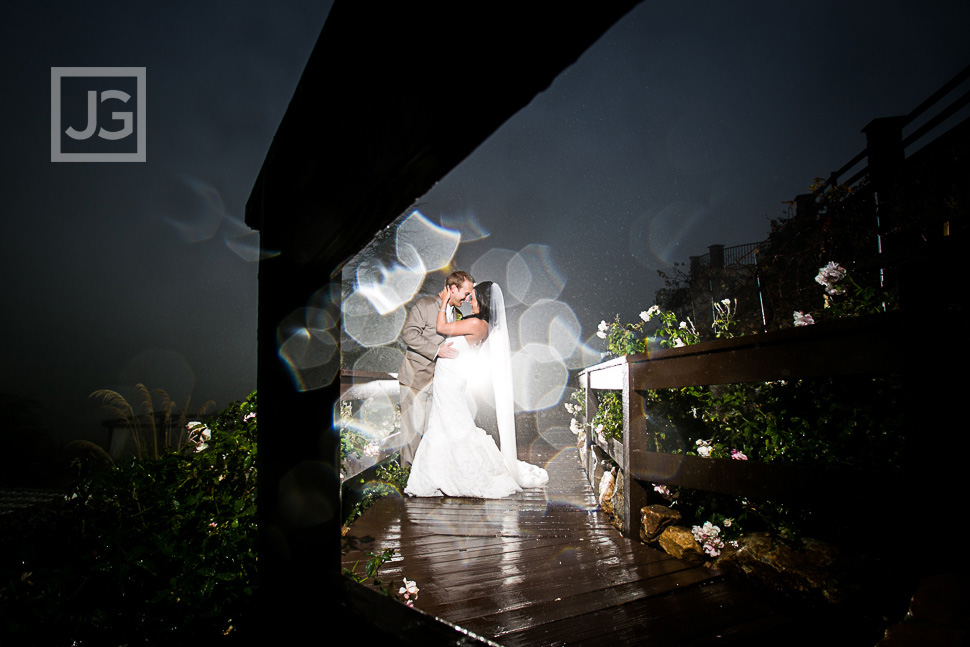 Wedding Photography at Serendipity Garden rain