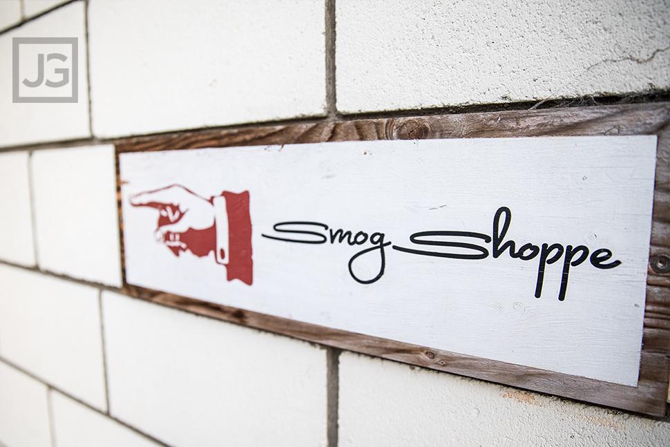 Smog Shoppe Front Entrance Sign