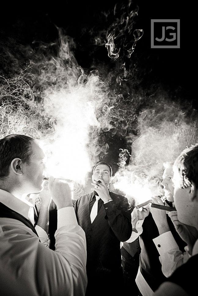 The Vineyards Simi Valley Groomsmen Cigar Smoking