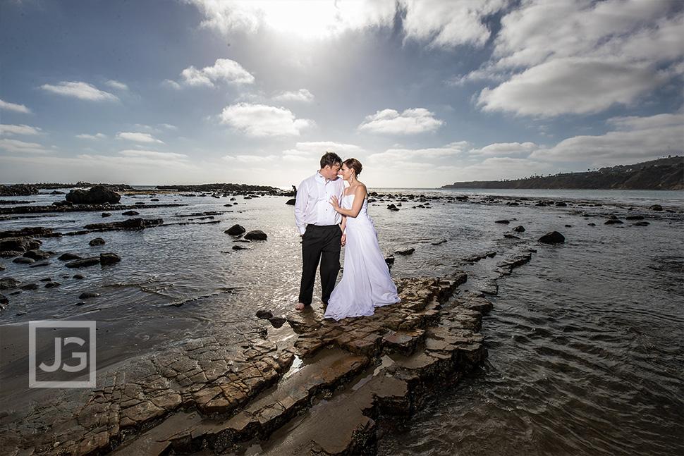 Palos Verdes beach wedding photo
