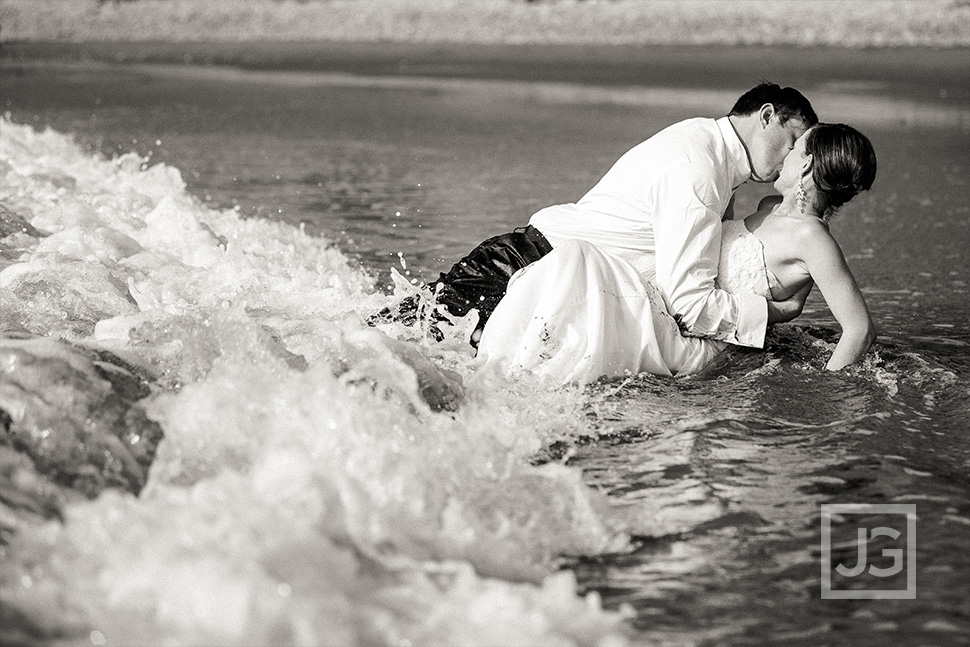Trash the Dress at the Beach