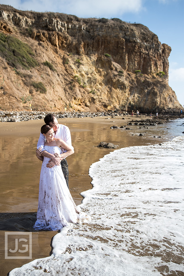 Trash the Dress at Abalone Cove