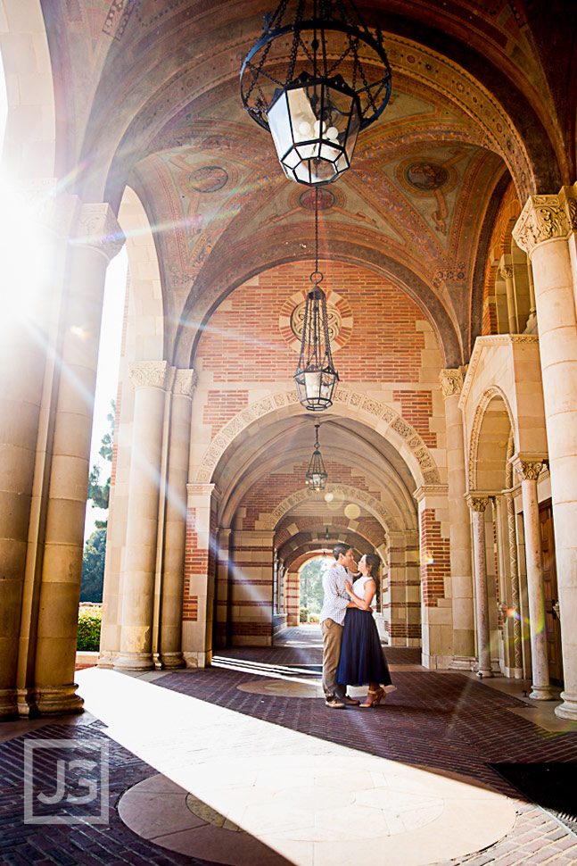 Royce Hall at UCLA Engagement Photo
