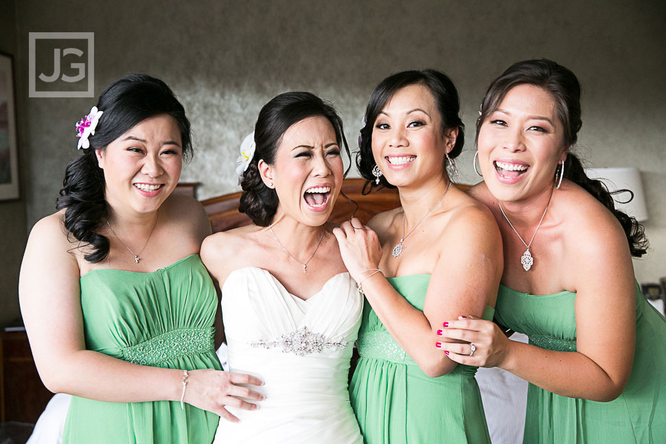 Hilton Universal City Wedding Bridesmaids