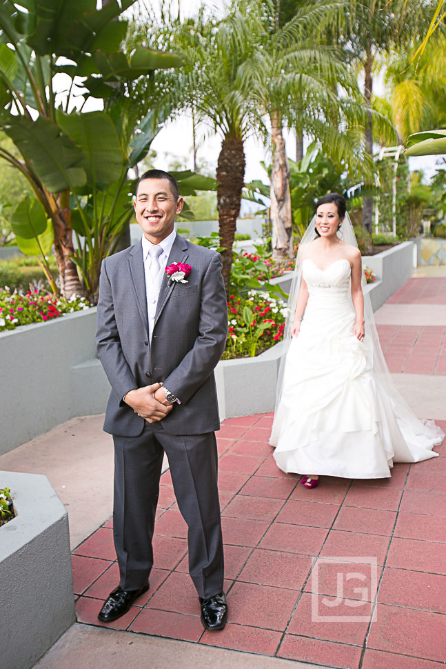 Hilton Universal City Wedding First Look