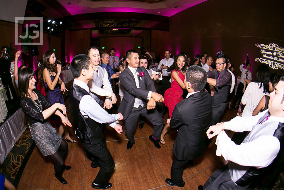 Hilton Universal City Wedding Reception Dancing