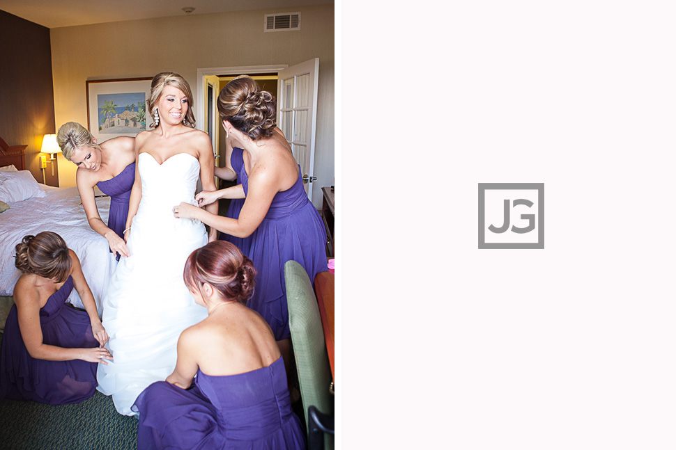 Hampton Inn San Clemente Wedding Preparation