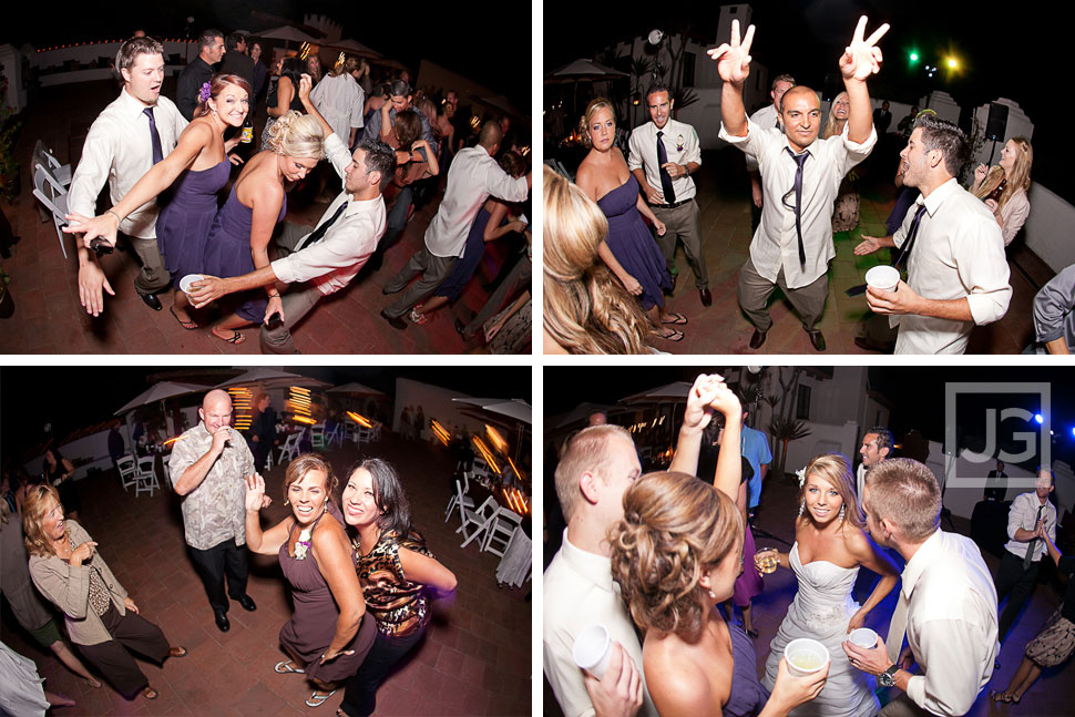 San Clemente Historic Cottage Wedding Reception Dancing