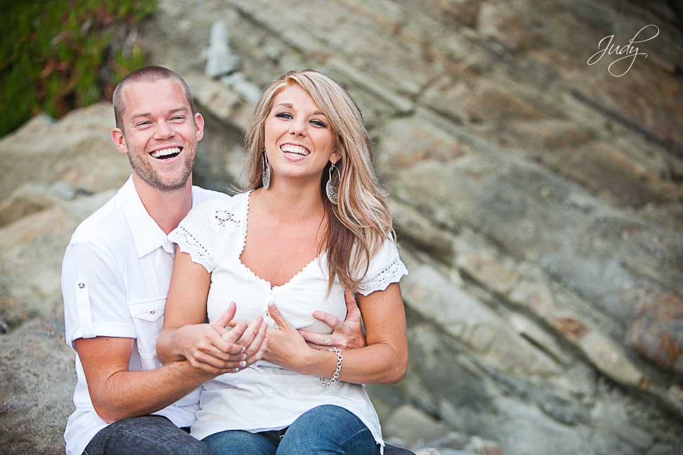 Laguna Beach Engagement Photography Funny