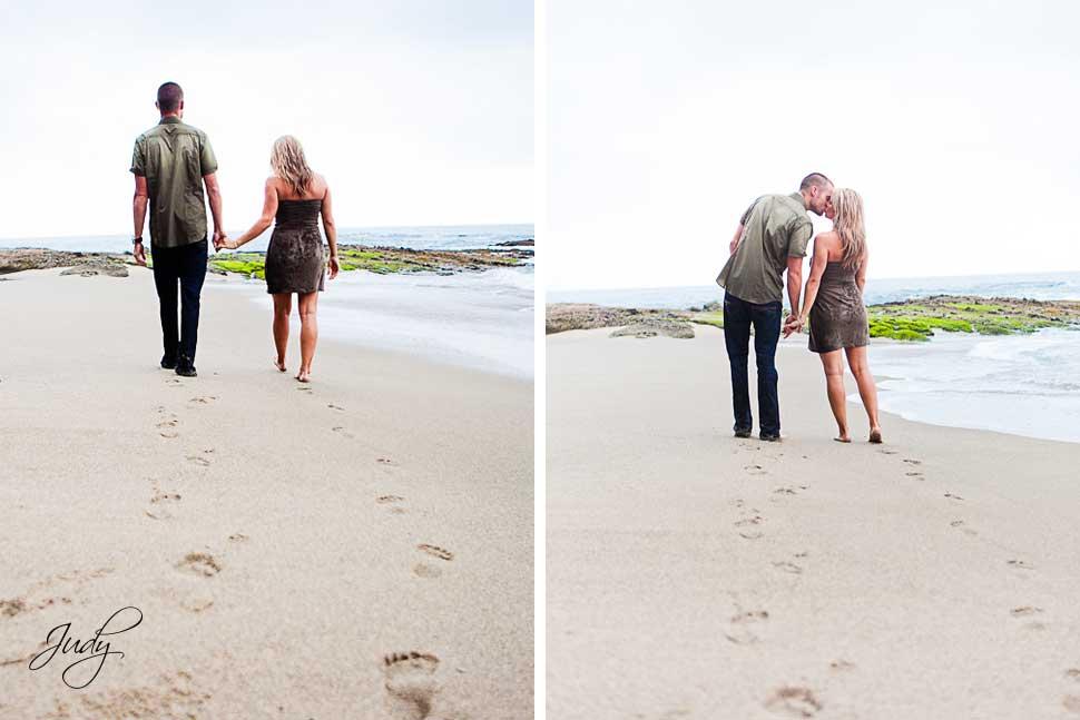 Laguna Beach Engagement Photography Walking on the Beach