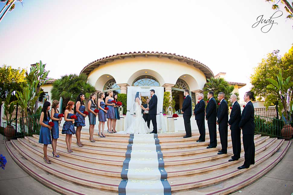 Spanish Hills wedding ceremony steps