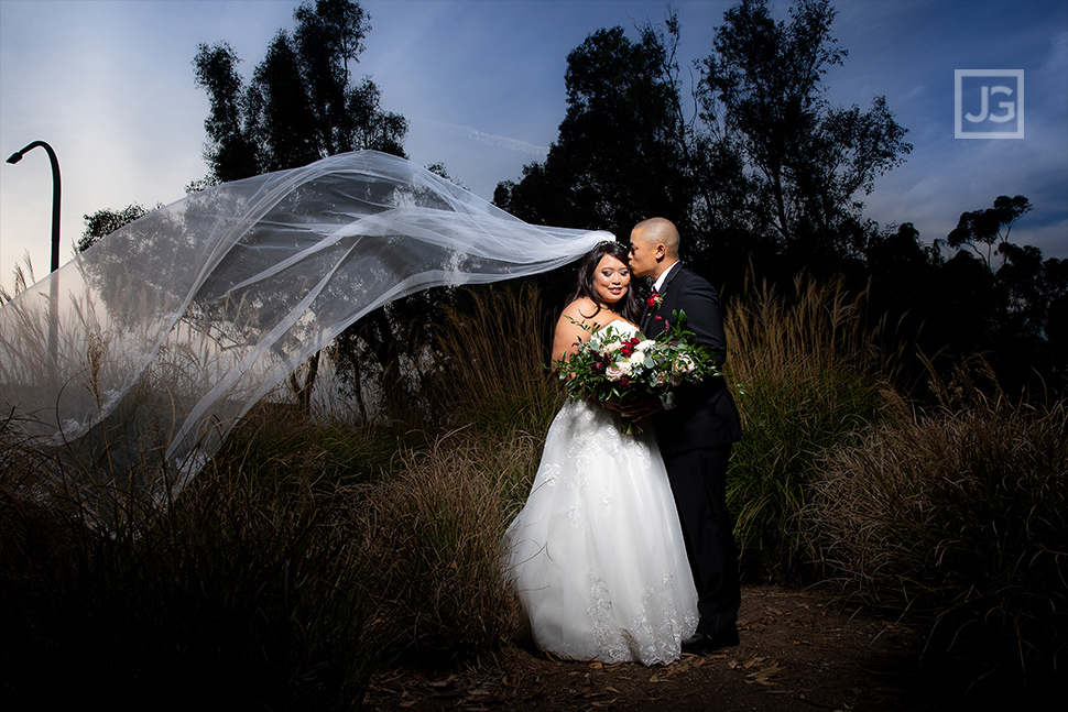 Huntington Library Wedding Photo