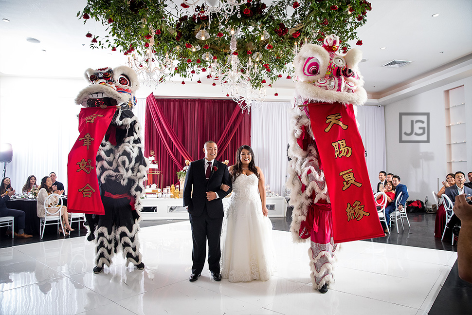 Wedding Lion Dance at the Venue Huntington Beach