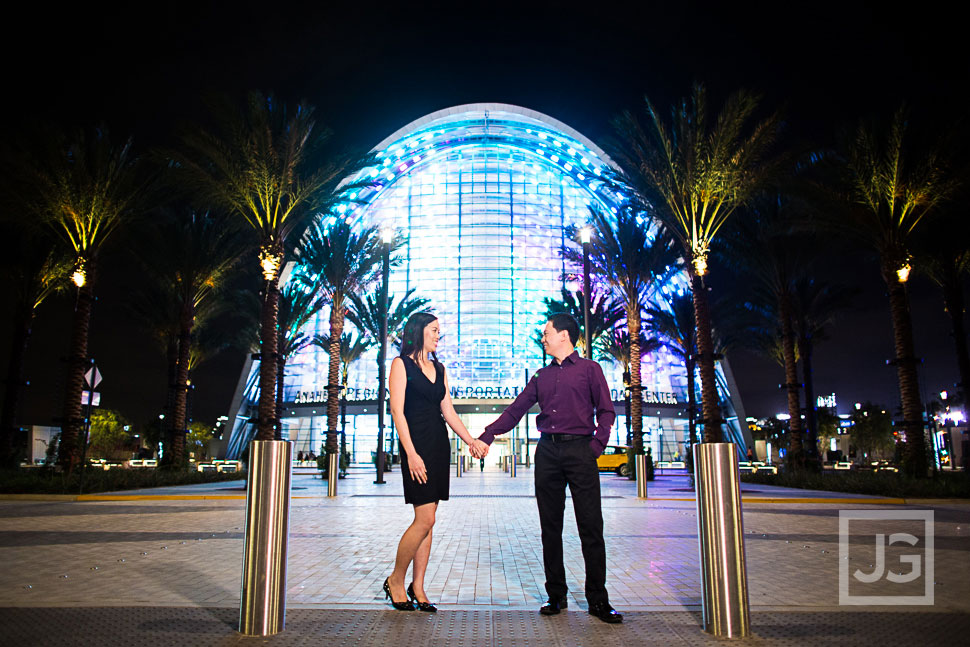 Anaheim Train Station Engagement Photos