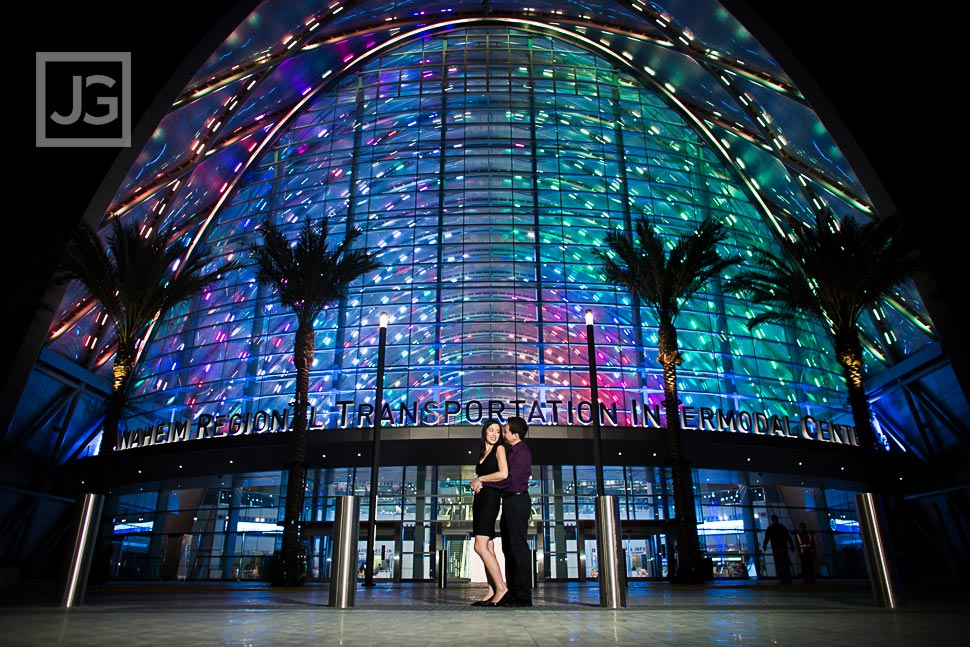 Anaheim Transportation Center Engagement Photography