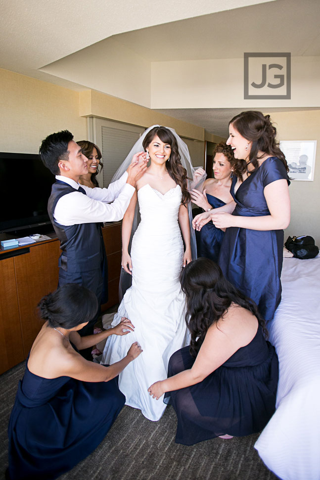 Westin Bonaventure Los Angeles Wedding Preparation
