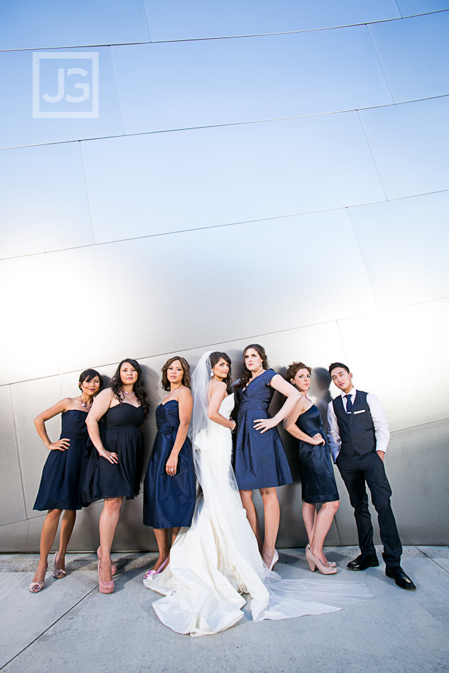Walt Disney Concert Hall Wedding Party Photos