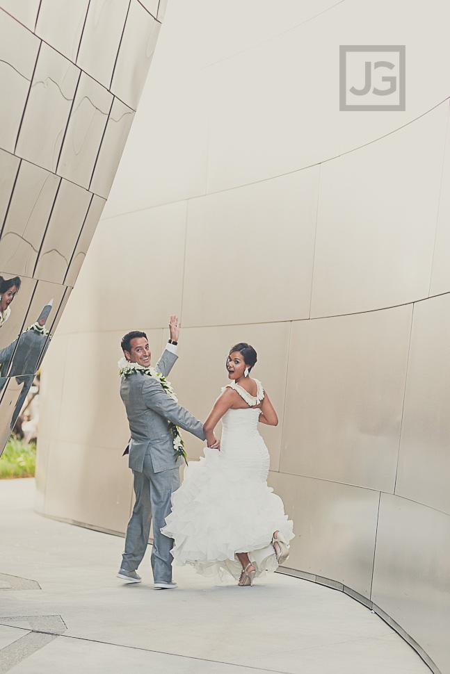 Walt Disney Concert Hall Wedding Photography