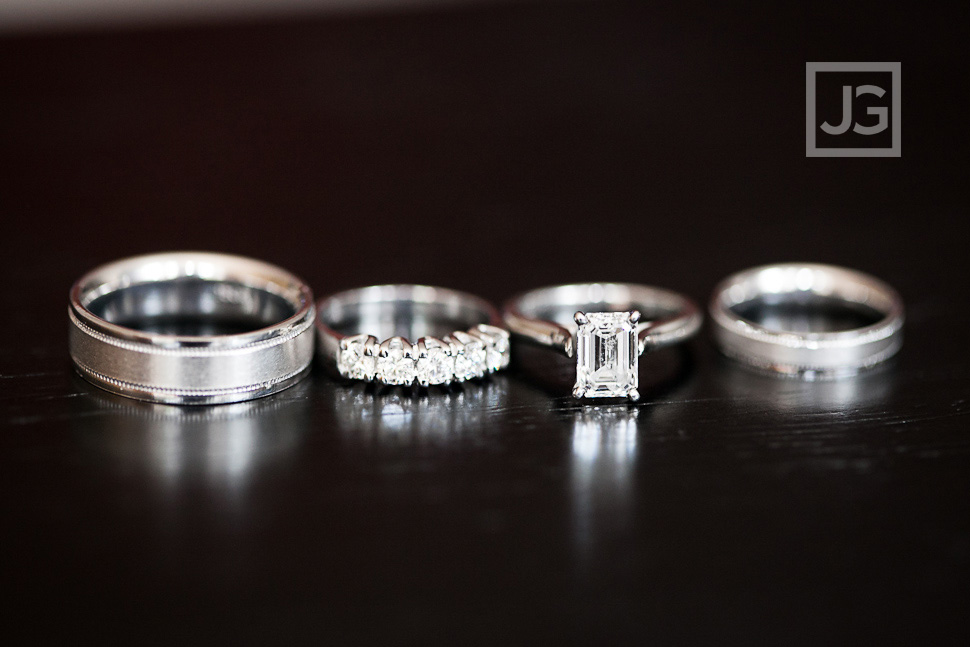 Wedding Ring Photo, Princess Cut