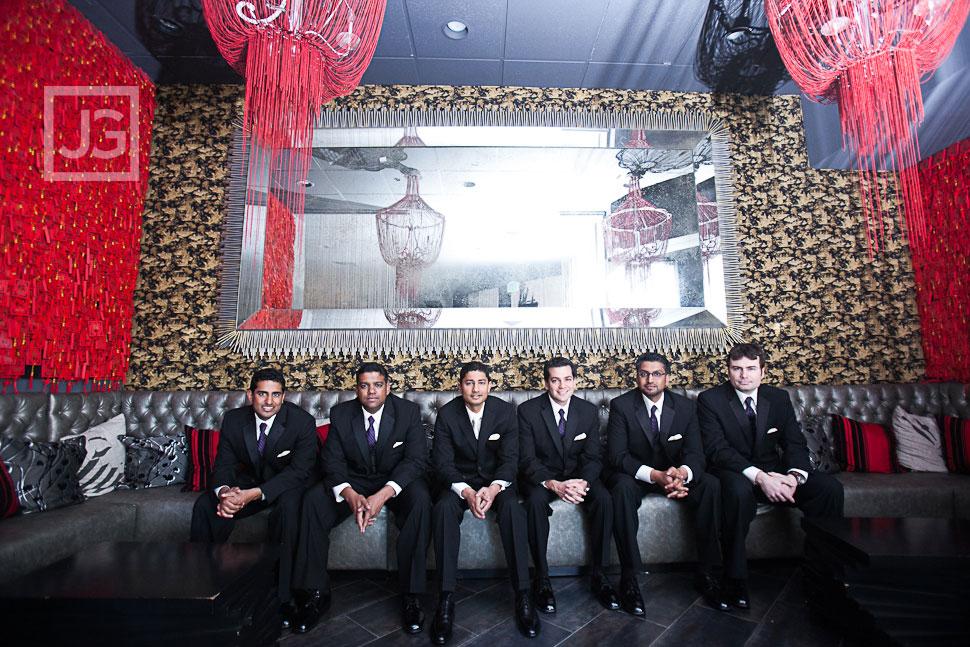 Groomsmen at Hotel Huntington Beach